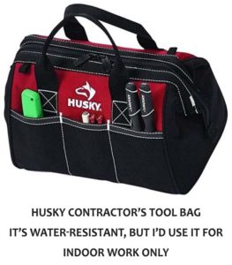 soft toolbox bag - water resistant one