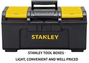 tool box from Stanley - light and convenient